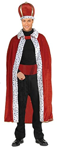 [King Red Robe & Crown Costume Set Adult Standard] (King Robe & Crown Set Adult)