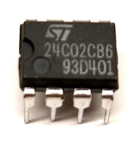 10 Stück M24C02CB6 | 2 Kbit Serial I²C Bus EEPROM | = M24C02 = 24C02 | -40°C to +85°C | Vcc 4.5V to 5.5V | STMicroelectronics | DIP8 Gehäuse