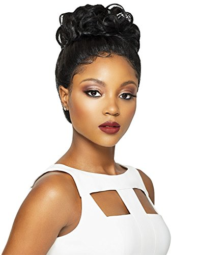Amazon.com : VIXEN ROMANCE CURL (1 Jet Black) - Outre Synthetic Swiss Silk X Lace Front Wig : Beauty