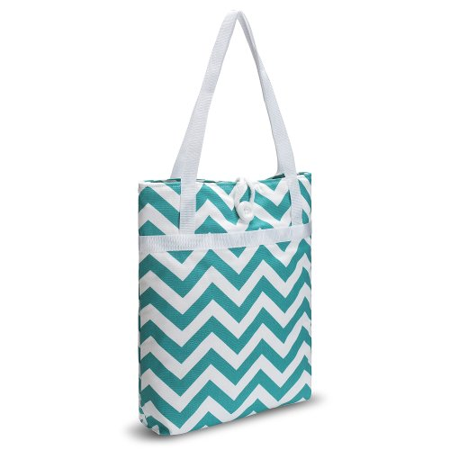 kuzy-teal-chevron-zig-zag-travel-tote-bag-cotton-handmade-16-inch-for-macbook-and-laptop-book-bags-t