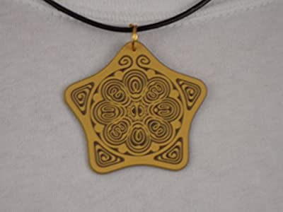 "EMF and Personal Boundary Antenna of Protection for Anxiety & Stress Relief - Powerforms Serenity Star Shield 2"" dia"