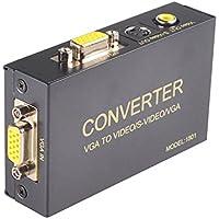 VGA to AV TV RCA Composite Computer PC Laptop to TV Converter Box- VGA to RCA S-Video