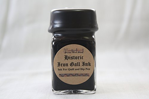 Historic Iron Gall Black Ink for dip pen, 1 oz
