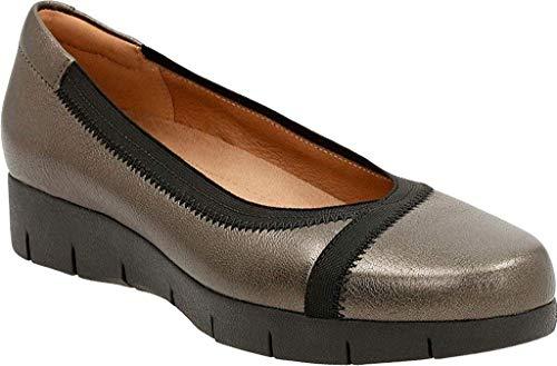 - CLARKS Women's Daelyn Hill Wedge Heel,Bronze Goat Full Grain Leather/Textile,US