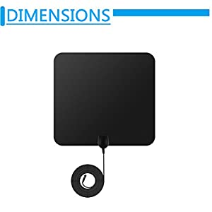 Blimark HDTV Antenna, Digital Signal Antenna with 50 Mile Range 4k/Full HD/Indoor 360 Degree Receiver Leaf and 13.2ft Long Copper Coaxial Cable