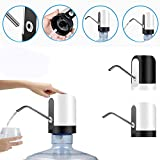 Dikley Wireless Automatic Electric Water Pump Dispenser, Portable Water Drinking Button Pump Dispenser Supply Device for Home Travel Office kitchen Portable Drinking Bottle(Random Color)