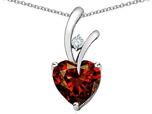 star-k-heart-shape-8mm-simulated-garnet-pendant-necklace-sterling-silver