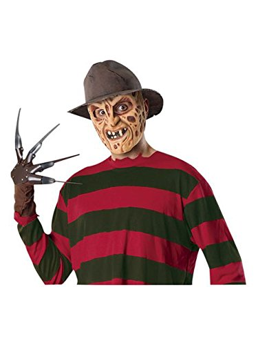 Freddy Krueger Accessories (Rubies 49817 Nightmare On Elm Street, Deluxe Fedora, Brown, 4.5-Inch High X 10.5-Inch)