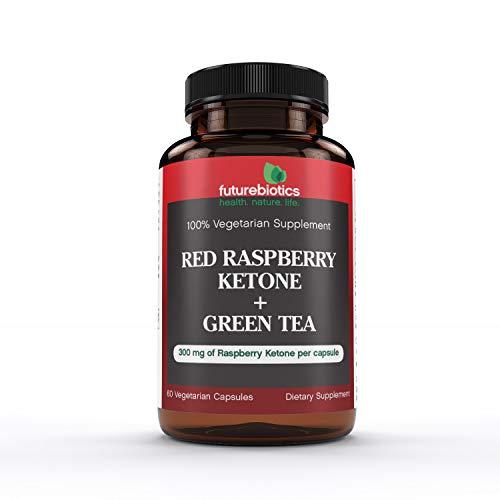 Futurebiotics Vegetarian Capsules, Red Raspberry Ketone Plus Green Tea, 60 Count
