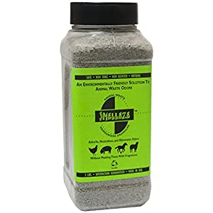SMELLEZE Natural Animal Waste Odor Removal Deodorizer: 50 lb. Granules Rid Feces & Urine Stench 6