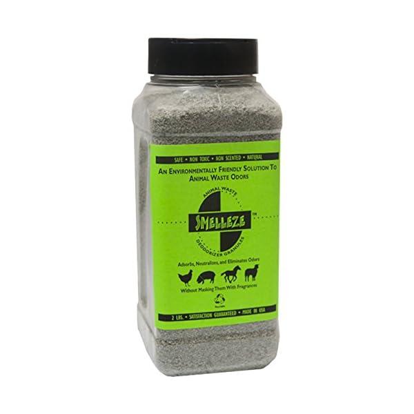 SMELLEZE Natural Animal Waste Odor Removal Deodorizer: 50 lb. Granules Rid Feces & Urine Stench 1