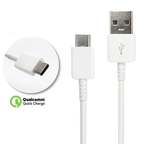 - Authentic 9 USB to Type-C Charging and Transfer Cable. (White / 3.3Ft)
