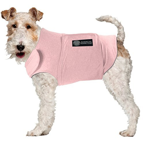 AKC - American Kennel Club Anti Anxiety and Stress Relief Calming Coat for Dogs, Essential for Thunderstorm season and 4th of July Fireworks- Pink, Large by American Kennel Club