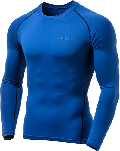 Lined Thermal Shorts (TM-YUD34-BLU_Large Tesla Men's Thermal Wintergear Compression Baselayer Long Sleeve Top YUD34)