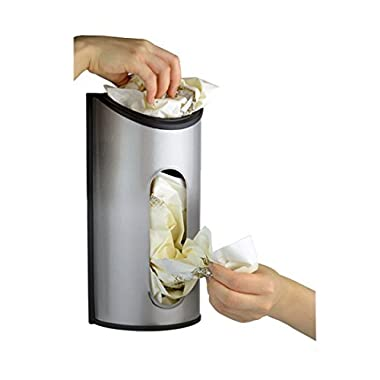 Fortune Candy 1 x Stainless Steel Wall Mount Grocery Bag Dispenser, Anti-Fingerprints
