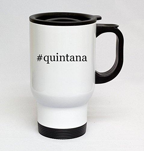#quintana - 14oz Sturdy Hashtag Stainless Steel Travel Mug, White