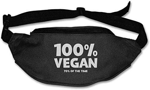 100%ビーガン70%の時間ユニセックスアウトドアファニーパックバッグベルトバッグスポーツウエストパック