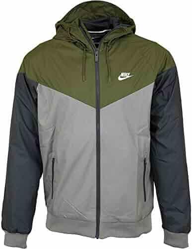 d1bf33b65b5 Nike Mens Windrunner Hooded Track Jacket Olive Canvas/Dark Stucco/White  727324-395