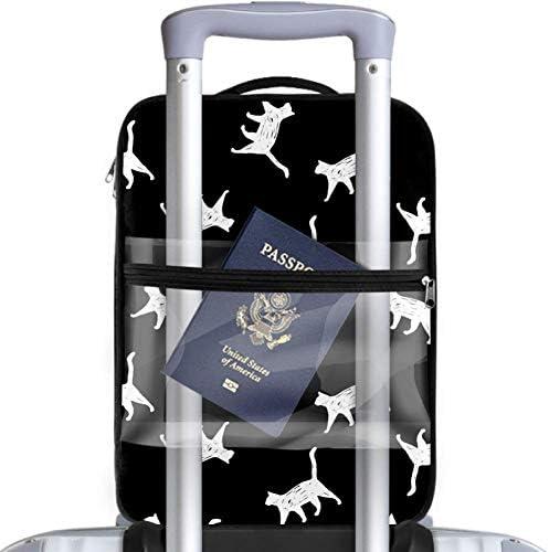 MYSTAGE シューズバッグ 靴箱 シューズケース シューズ袋 旅行収納ポーチ 二層式 靴入れ 小物収納 収納ケース アウドドア 出張 旅行 猫 シルエット