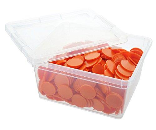 En-Joy blank plastic tokens - 500 coins - 29 mm - Orange .