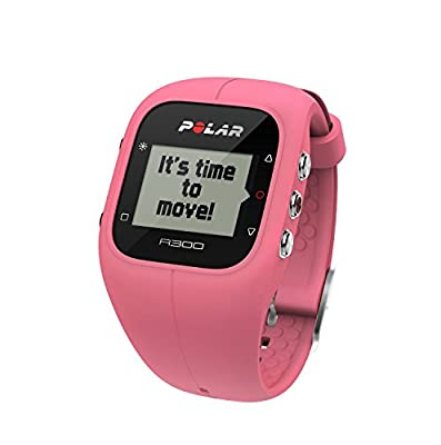 Polar A300 Fitness Tracker and Activity Monitor with Heart Rate Monitor Pink (Renewed)