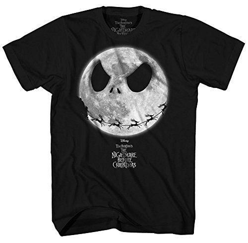 Disney Boys' Big Nightmare Before Christmas T-Shirt, Black, M -