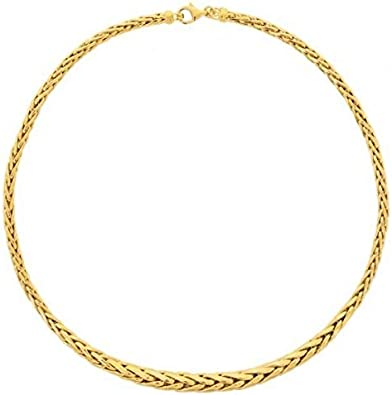 collier femme or maille palmier 18 carats