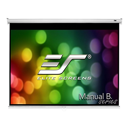 Series Pull Down Projection Screen (Elite Screens Manual B Series, 135-inch Diagonal 4:3, Pull Down Projection Manual Projector Screen with Auto Lock,)