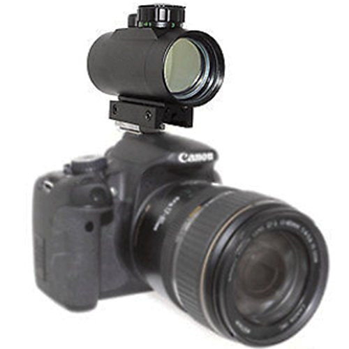 Astromania 1X40RD Reflex Red Green Dot Sight lighted Scope Mount to fix to a DSLR camera flash type connection (Wench Shoes)
