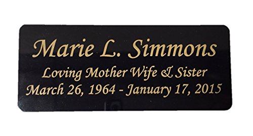 Engraved Plaque, Plate, Name Plate in brass Black and Gold- 4.5