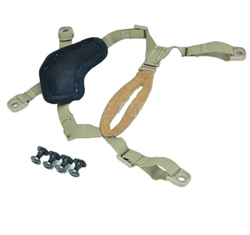 - OSdream 4 Points Chin Strap with Bolts and Screws for Ordinary helmet/Suspension System Helmet Lanyard DE