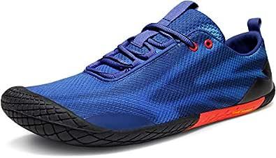 TSLA Men's Trail Running Minimalist Barefoot Shoe BK32-BRD