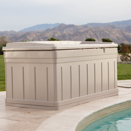 Patio Storage Deck Box with 129 Gallon Capacity, Removable Storage Tray, Bench, White Color, Made of Plastic, Ideal for Pool, Garden, Yard, Sitting Area Outdoor Furniture, BONUS E-book by Best Care LLC