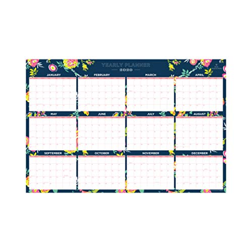 Day Designer for Blue Sky 2020 Laminated Erasable Wall Calendar, January 2020 - December 2020, Double Sided, 36