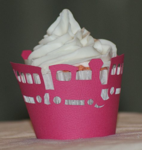 All About Details Taffy Pink Trains Cupcake Wrappers, Set of 12