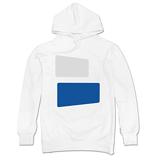 LaviV Men's Duke Blue Devils Color Lumps Symbol Logo Hoodie White