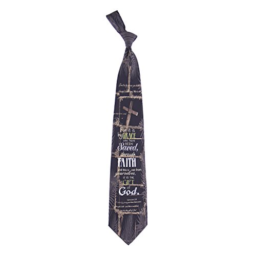 Eagles Wings Men's Finely Crafted Inspirational Necktie - Saved Through Faith