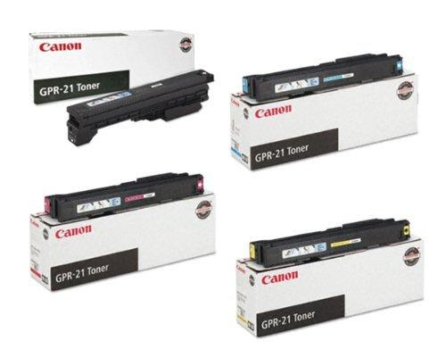 Canon GPR-21 OEM Toner Cartridge Set - Black, Cyan, Magenta and Yellow