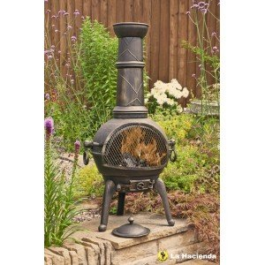 La Hacienda Sierra Cast Iron Chiminea - Large Bronze