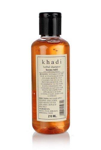 Ultimate Conditioning Shampoo - Khadi Natural Herbal Ayurvedic Henna Tulsi Conditioning Shampoo for all Hair Types SLS and Paraben Free (210 ml)