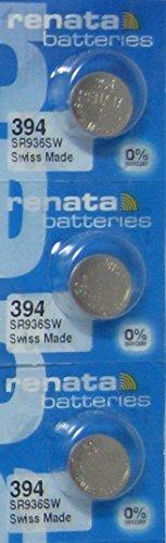 3 Renata 394 Button Cell watch Batteries (Swatch 394 Battery)