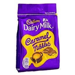 Cadbury 10 X Caramel Nibbles Pouch 120G | 10 Pack Bundle