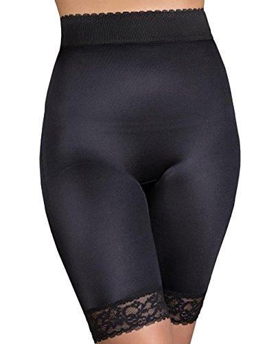 Rago Hi-Waist Long Leg Panty Shaper (518) 2X/Black
