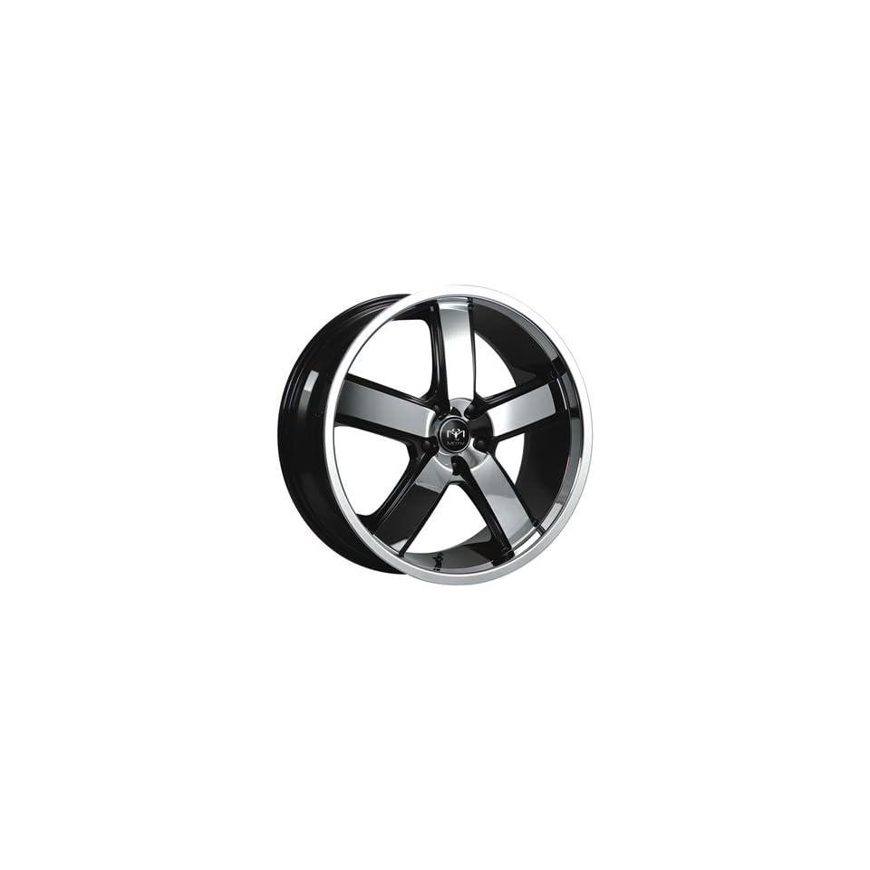 Motiv Magnum 22 Chrome Black Wheel / Rim 5x4.5 with a 15mm Offset and a 83.82 Hub Bore. Partnumber 403CB 2296515