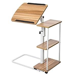 Amazon Com Sdadi Adjustable Overbed Table With Wheels