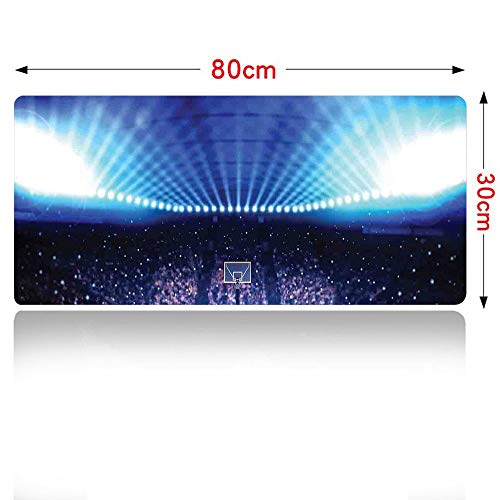 (Basketball Mouse pad Basketball Arena Court with Fans and Competition Theme Game Excitement Print Mouse Pad Large Size 700x300mm Navy Black 28×12in)
