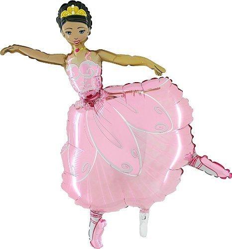 Grabo 42 Inch Pink Ballerina Girl Foil Balloon