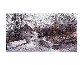 - The Mill Bridge - Poster by Ray Hendershot (14x11)