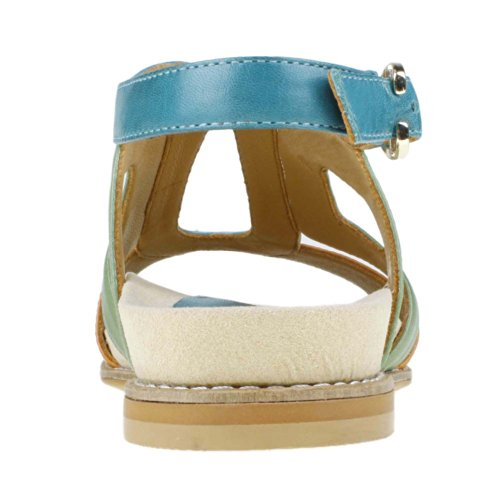 Earthies Femmes Sandale Arvello Foncé Turquoise Multi