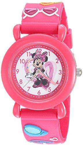 Disney Girl's 'Minnie Mouse' Quartz Plastic Casual Watch, Color:Pink (Model: WDS000388)